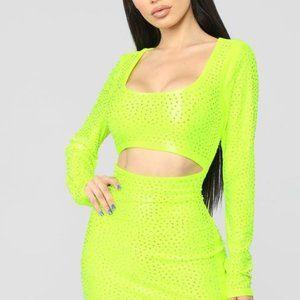 Affectionate Love Rhinestone Mini Dress
